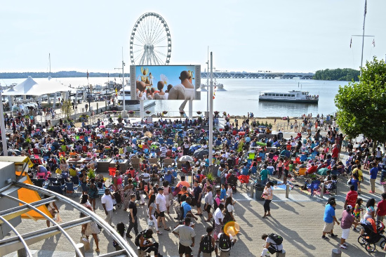 Outdoor Movies at the National Harbor