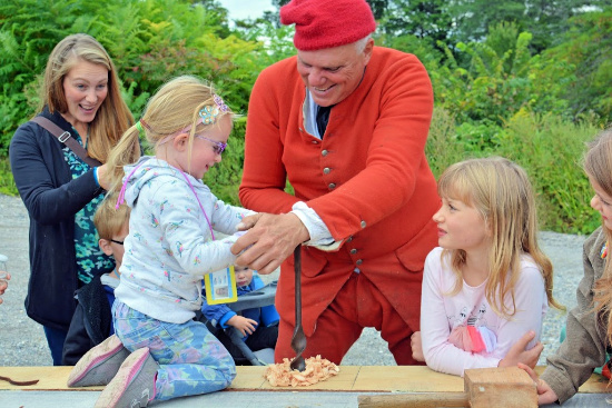 Hands on Family Program at Fort Ticonderoga