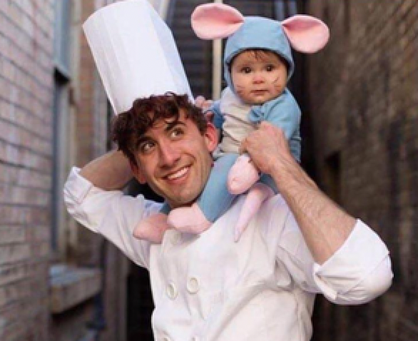 father and son Ratatouille costume for Halloween