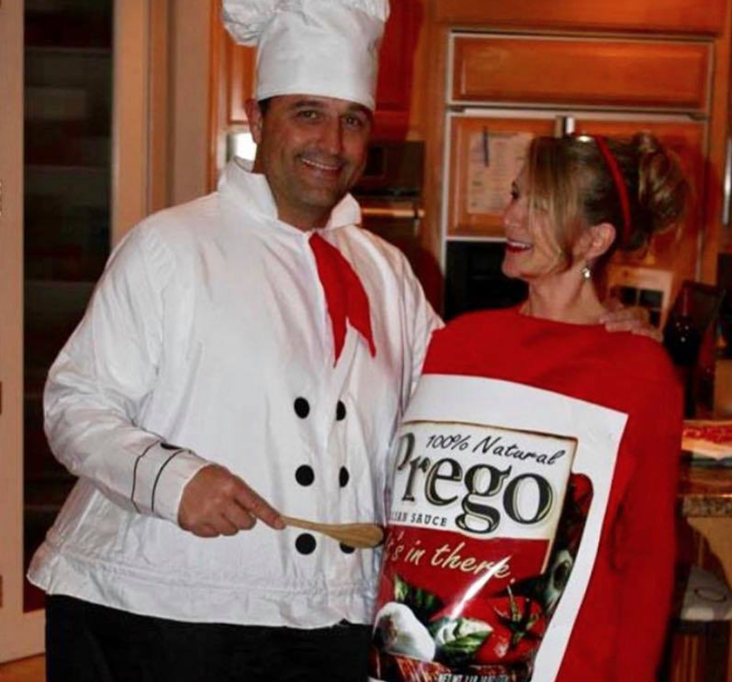 Prego Sauce and Chef costume for Halloween