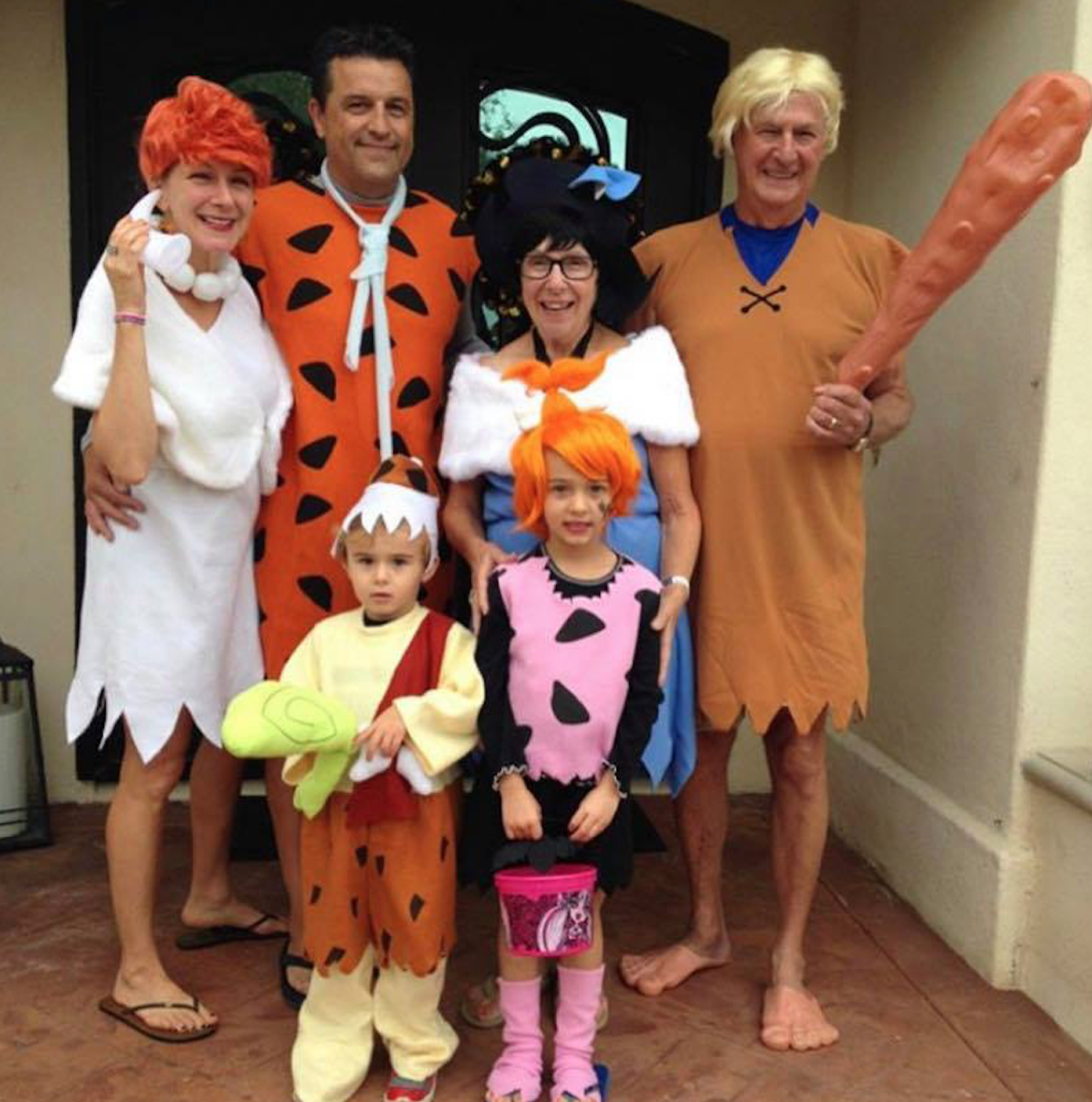 Flinstones family costume for Halloween