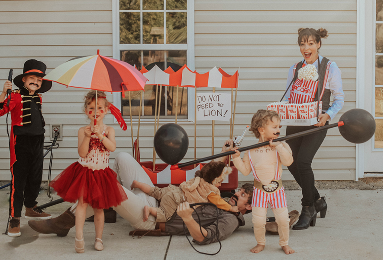 family circus costume for Halloween