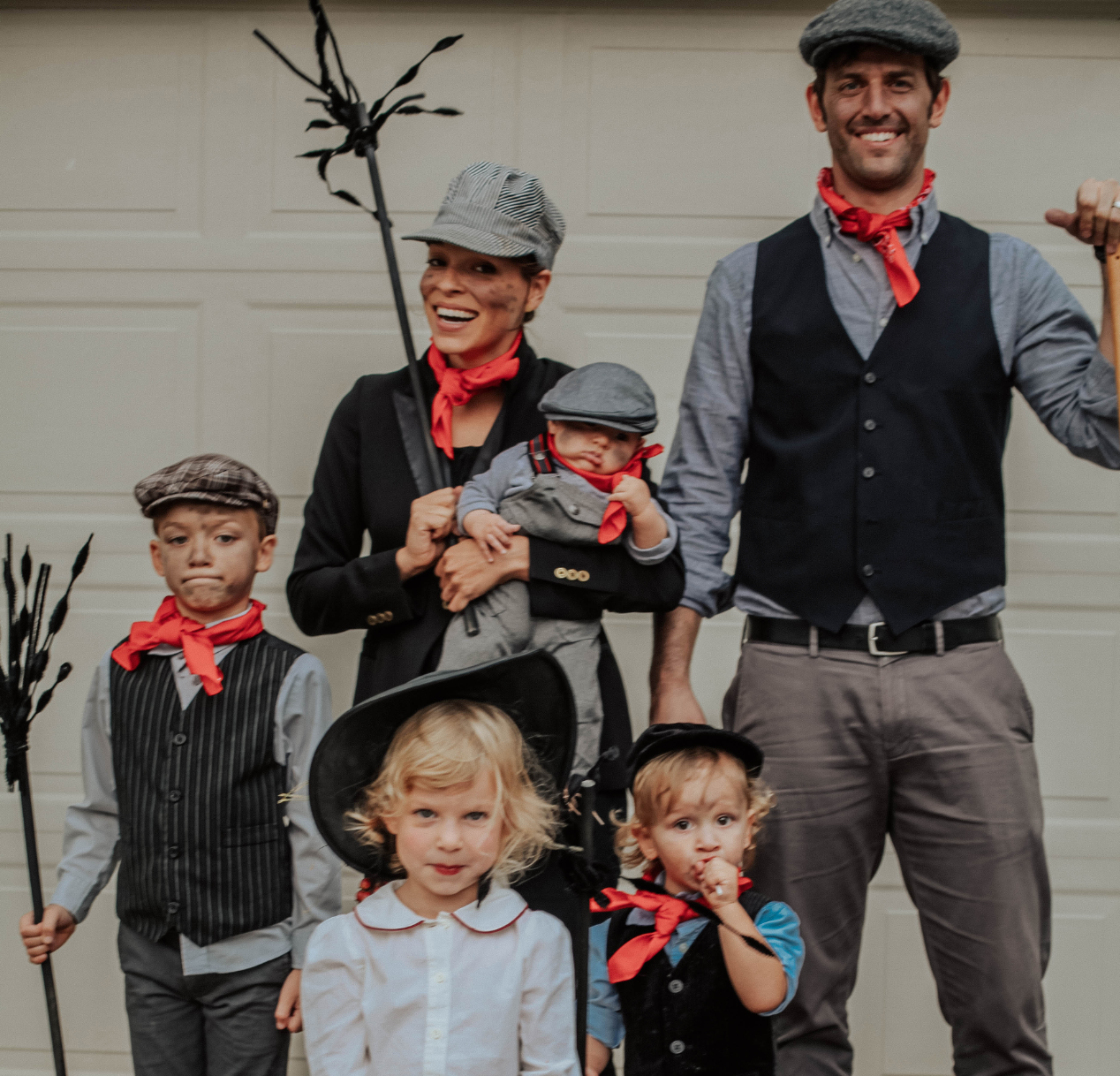Mary Poppins chimney sweeps family Halloween costume