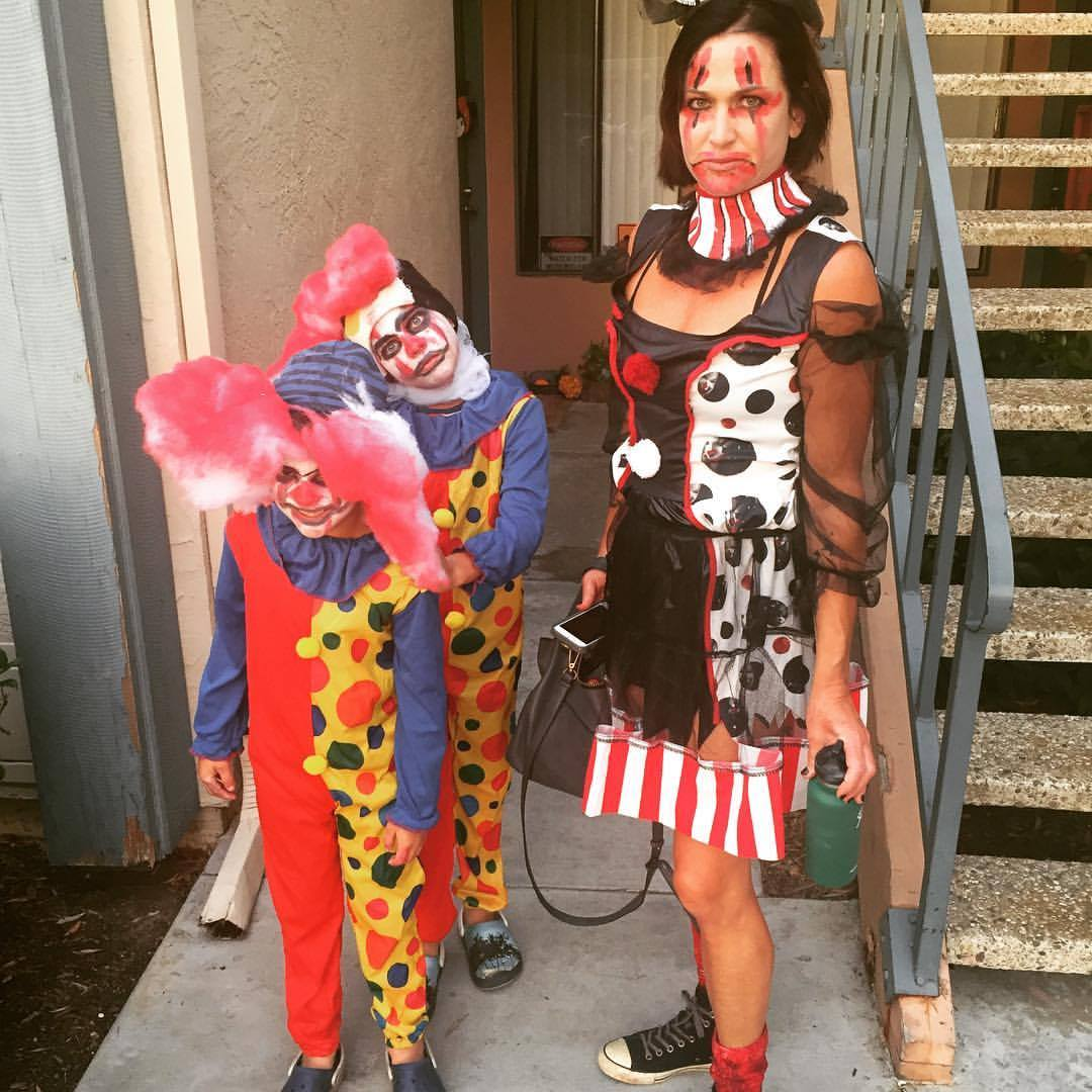 creepy clown family Halloween costume